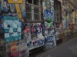 Graffiti-Innenhof